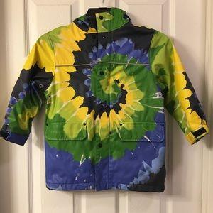 Lands End tie dye raincoat size 4